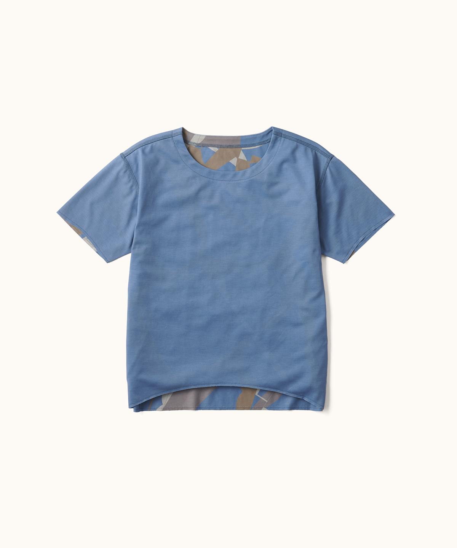 AIRDYEダブルプリントP.CAMOジュニアTシャツ(RE:DESCENTE)