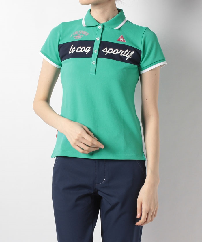 ロゴプリントカラーブロック半袖シャツ