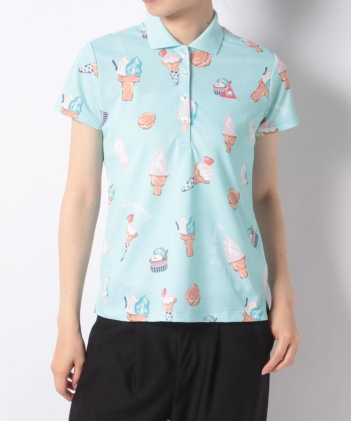 アイスクリームプリント半袖シャツ