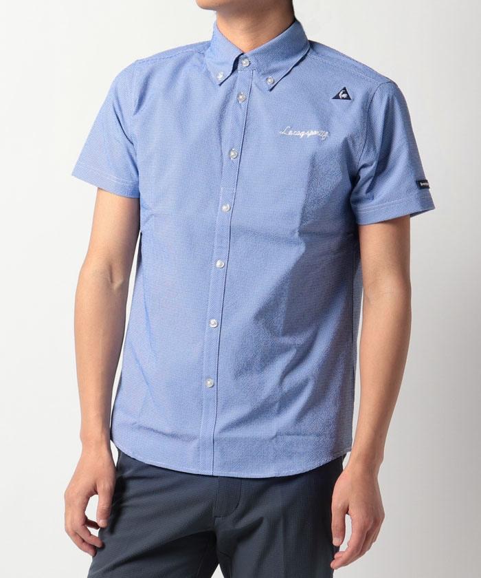 ミニギンガム柄布帛半袖シャツ