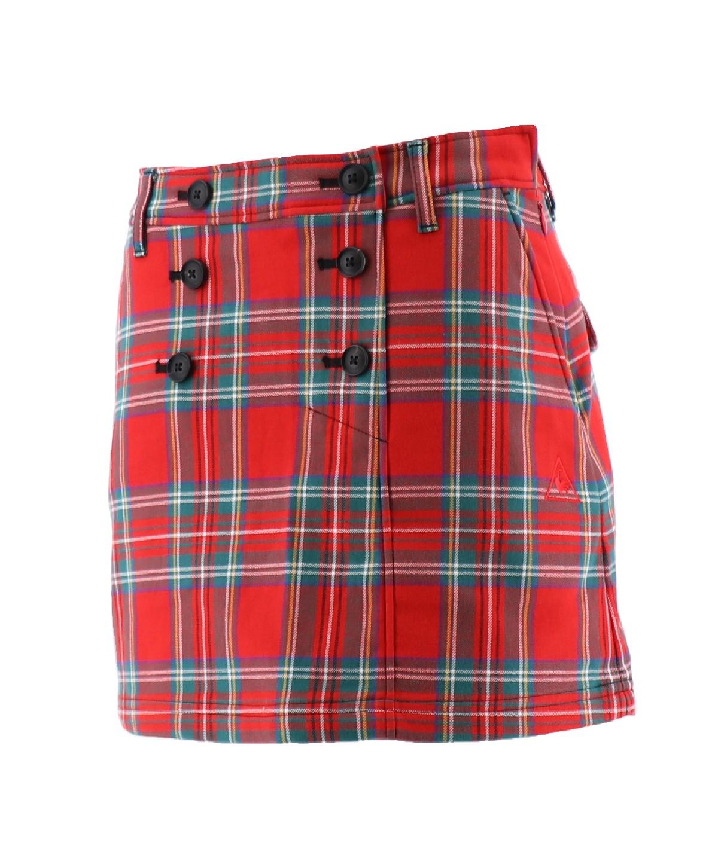 先染めチェックボンディングスカート