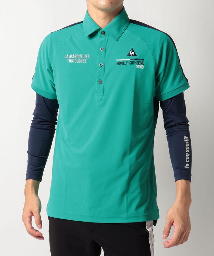 【セット商品】テクニスタ鹿の子長袖アンダー付き半袖シャツ《吸汗速乾・ストレッチ・UV(UPF15)》