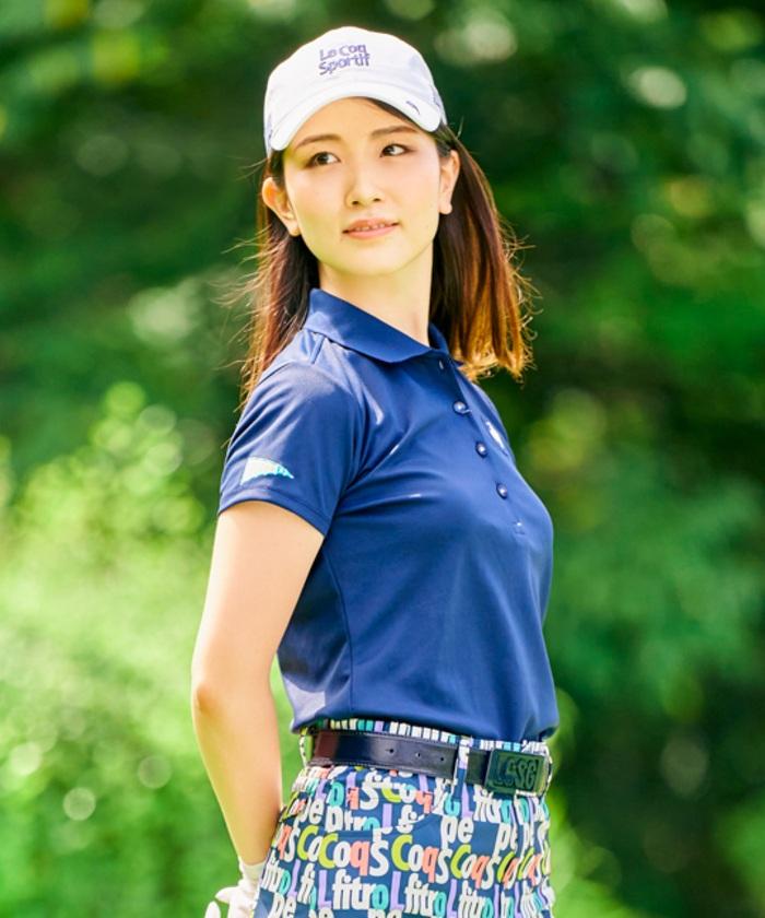 【ALLIEコラボ】バックプリント半袖ポロシャツ(吸汗速乾・UPF50・防汚)