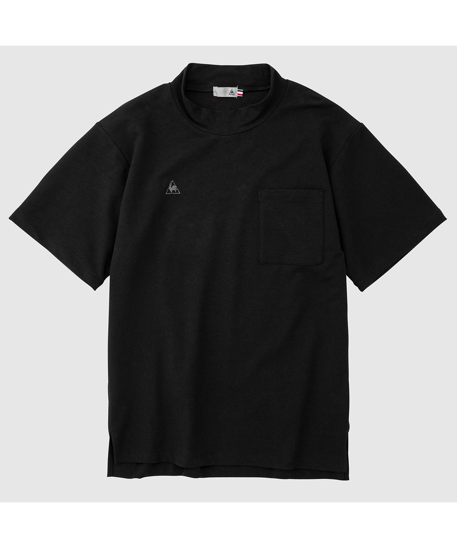 モックネック半袖シャツ