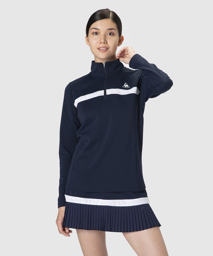 【テニス】【レディス】ハーフジップ長袖シャツ