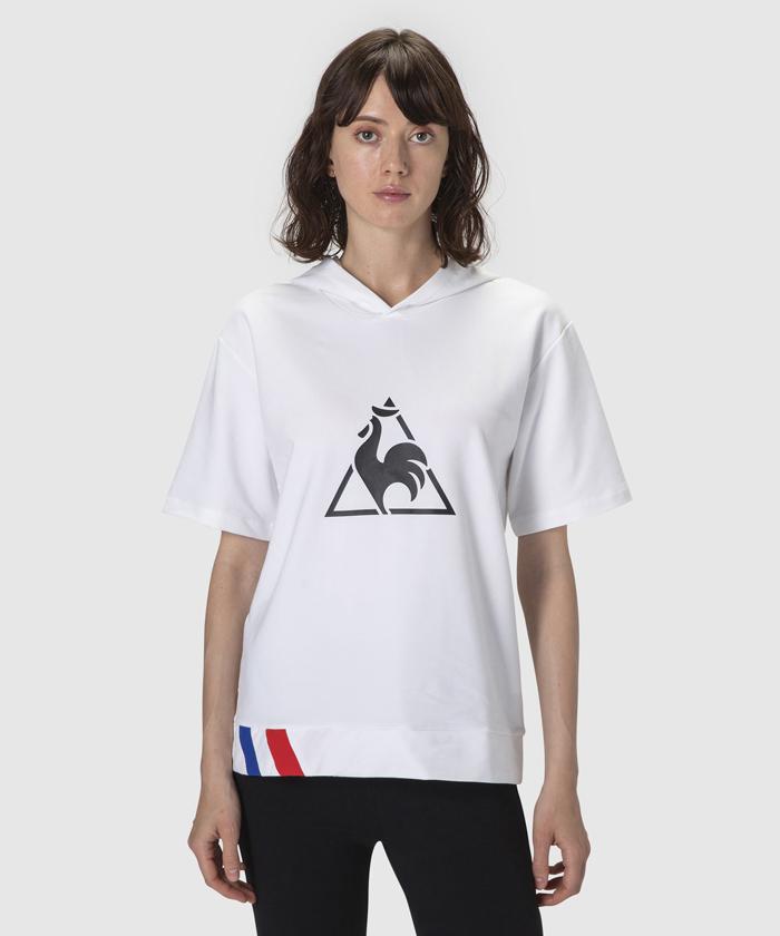 【レディス】半袖フーディーシャツ