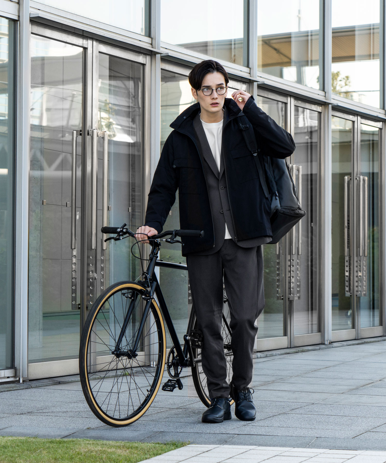 エアスタイリッシュサイクリングウィンドジャケット【Glambike】