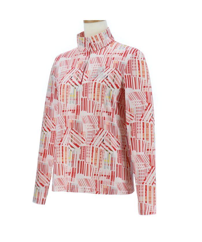 グラフィックプリント長袖シャツ