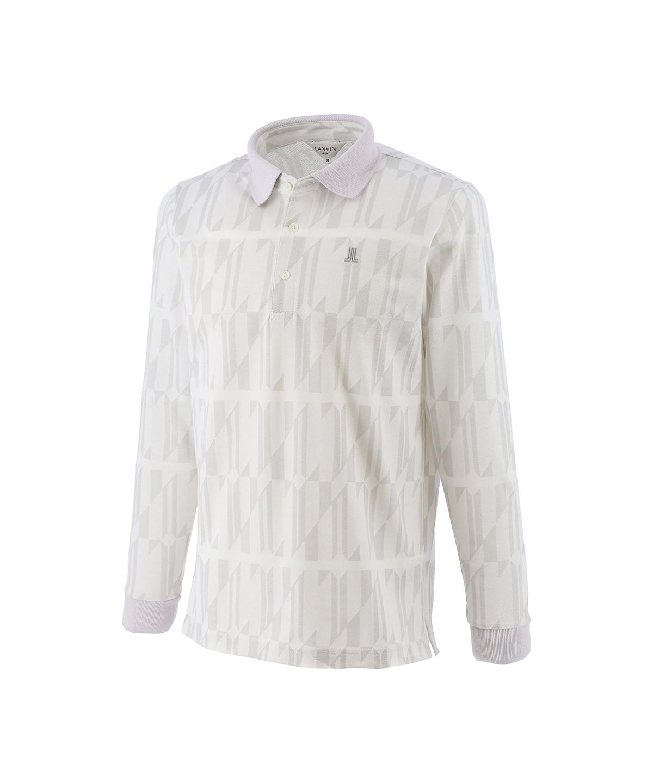 ジャカード鹿の子ポロシャツ
