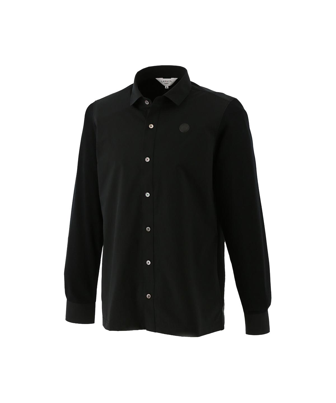 異素材コンビフルオープンシャツ