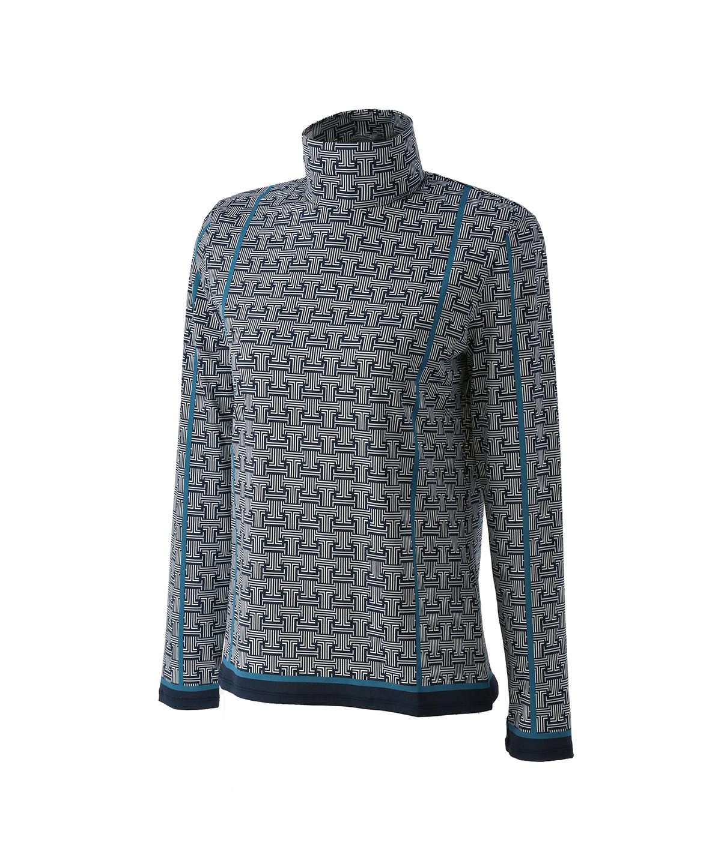 JLモノグラムプリントハイネックシャツ