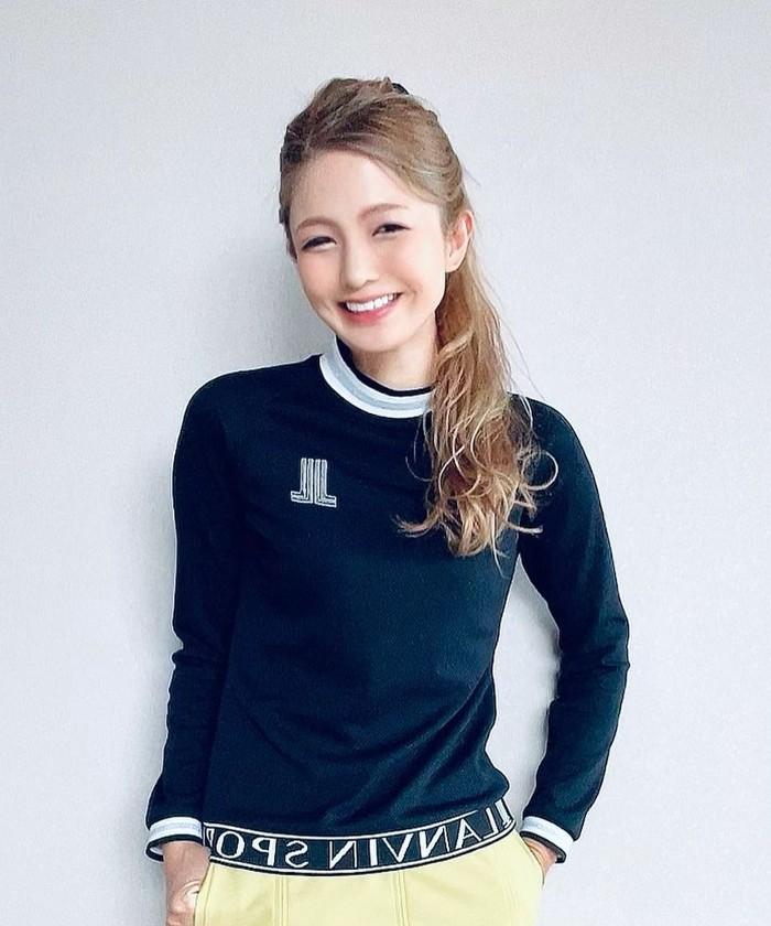 【ECO】【UV】モックネック長袖シャツ