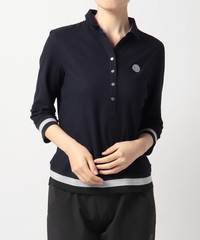 リネンツイル七分袖シャツ