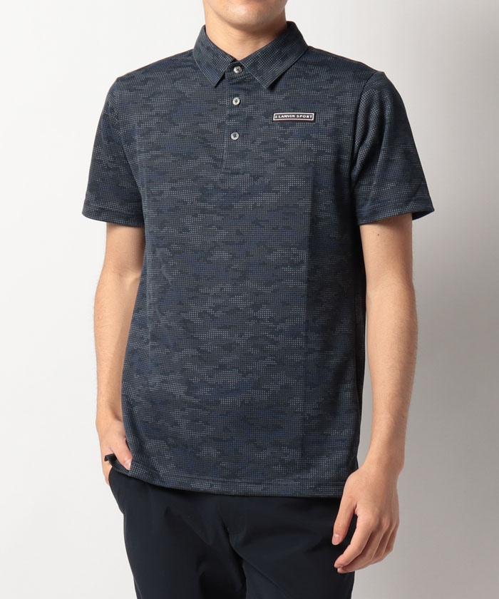 【ECO】【サンスクリーン】ブロック迷彩柄半袖シャツ