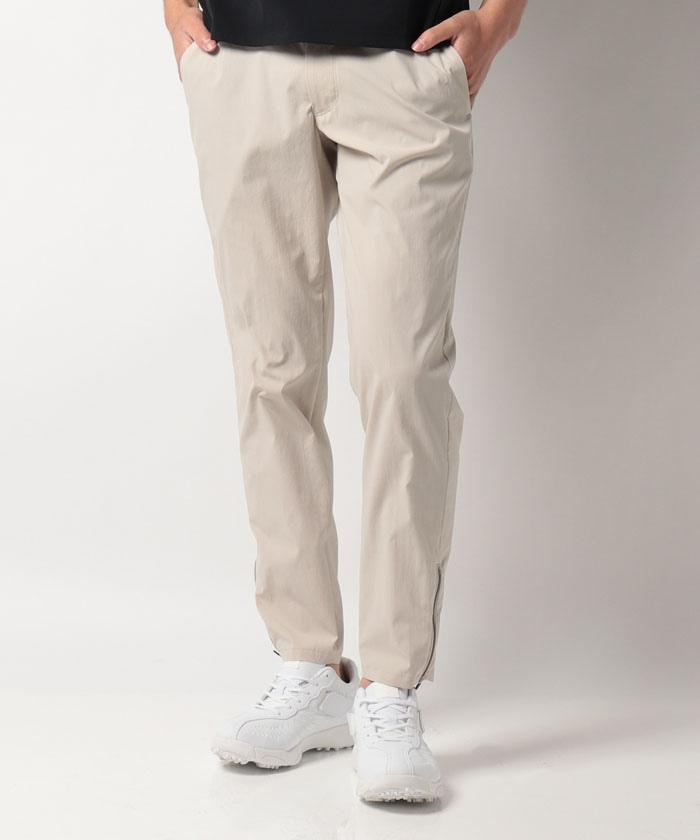 裾ジップロングパンツ
