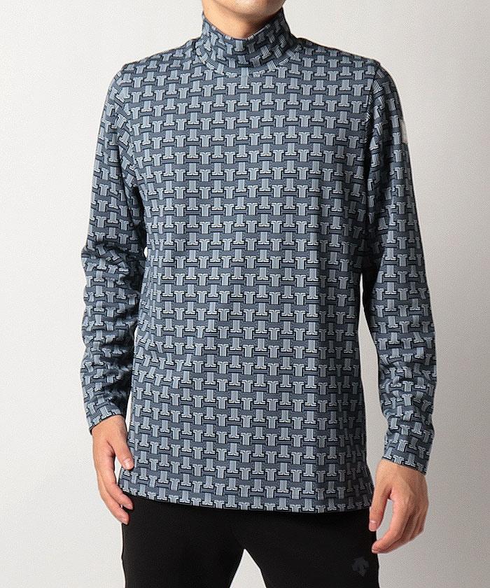 JLモノグラムロゴプリントハイネックシャツ