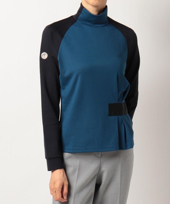 グログランリボン付き長袖シャツ