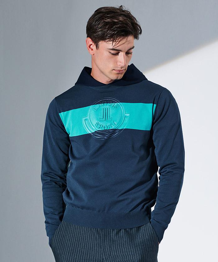 【ECO】エンボスロゴセーター