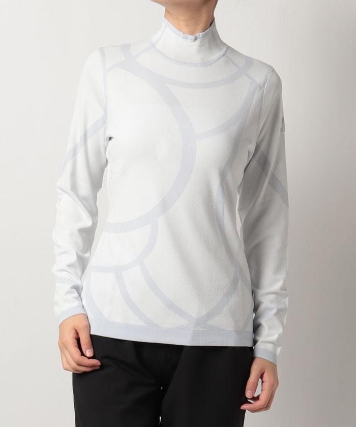 柄物ハイネックセーター
