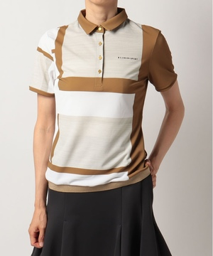 【ECO】パネルプリント半袖シャツ【UV/吸水速乾】