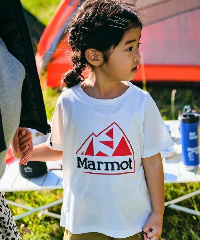 Kid's Mountain Logo H/S Crew / キッズマウンテンロゴハーフスリーブクルー