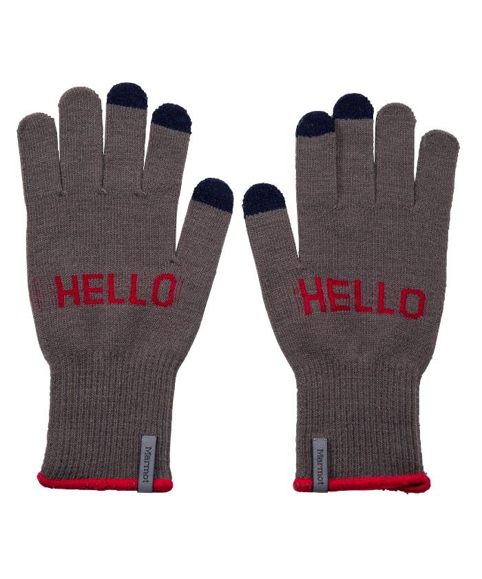 【四角友里コラボレーション】W's HELLO Knit Glove / ウィメンズハローニットグローブ