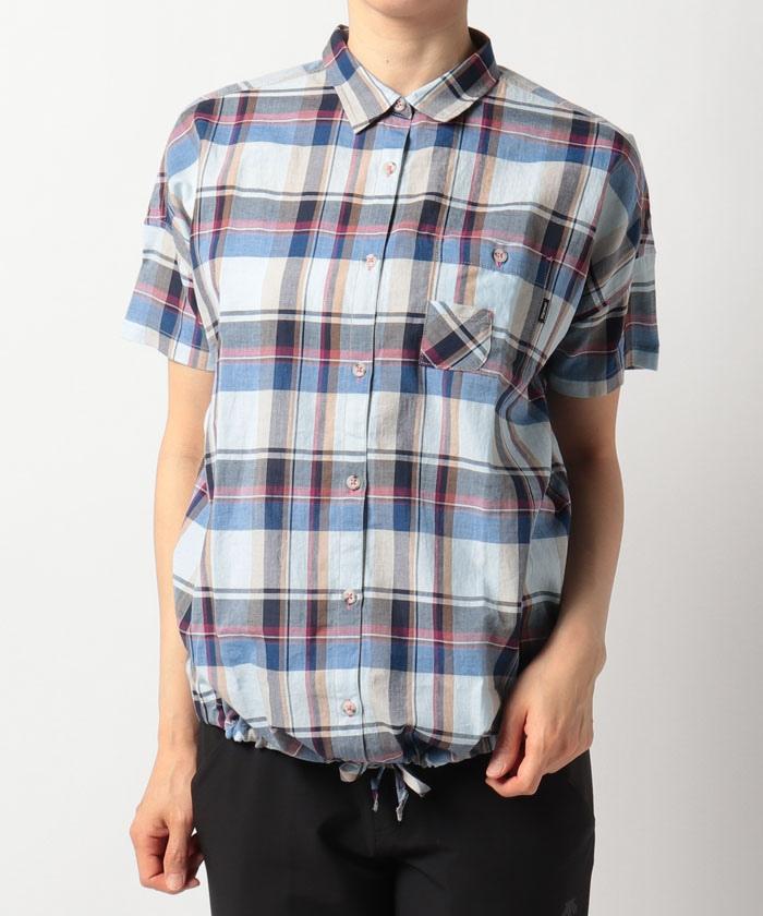 W's CL Plaid H/S Wide Shirt / ウィメンズシーエルプラッドハーフスリーブワイドシャツ