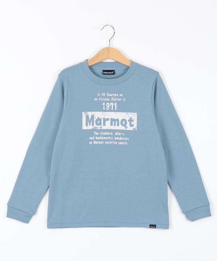 【UV CUT】キッズ長袖Tシャツ / Kid's Established Marmot L/S Tee