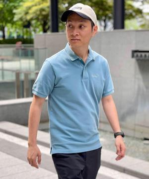 【直営店限定 マンシングウェアコラボレーション】Garment Dyed Polo / ガーメントダイドポロ