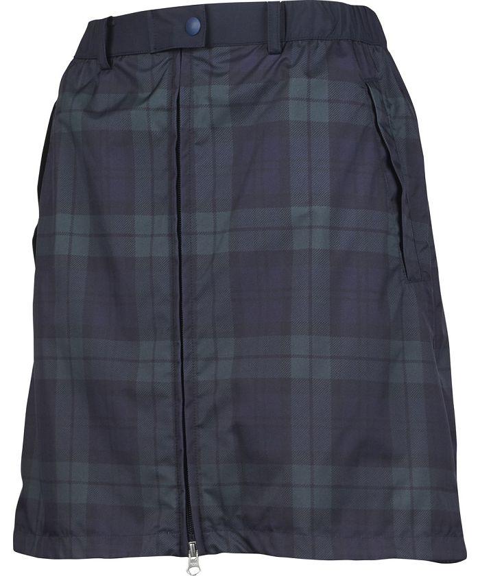 【はっ水】ツイルプリントレインウェアスカート(48cm丈)