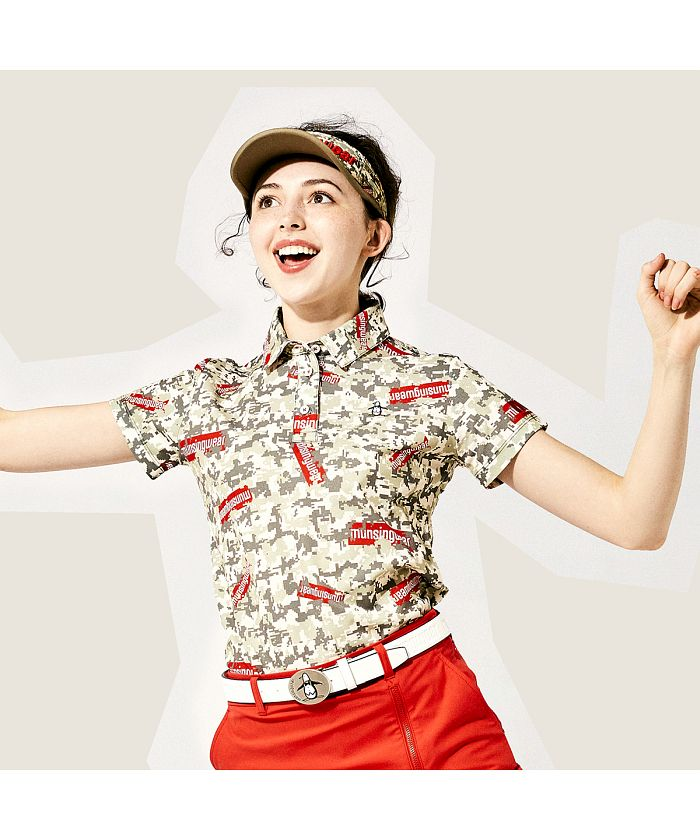 【ENVOY/エンボイ】【サンスクリーン】 デジカモプリント半袖シャツ