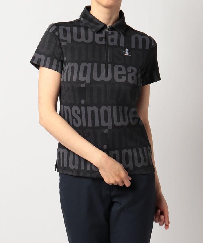 【ENVOY/エンボイ】【サンスクリーン】【吸汗速乾】ダブルニット鹿の子プリントジップアップ半袖シャツ