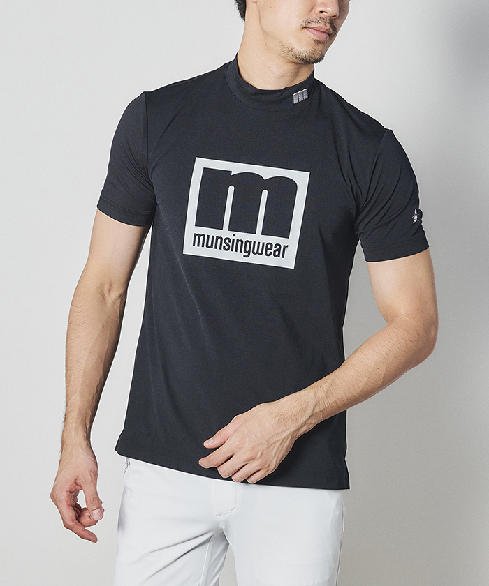 【ENVOY】 mロゴハイネック半袖シャツ【サンスクリーン】