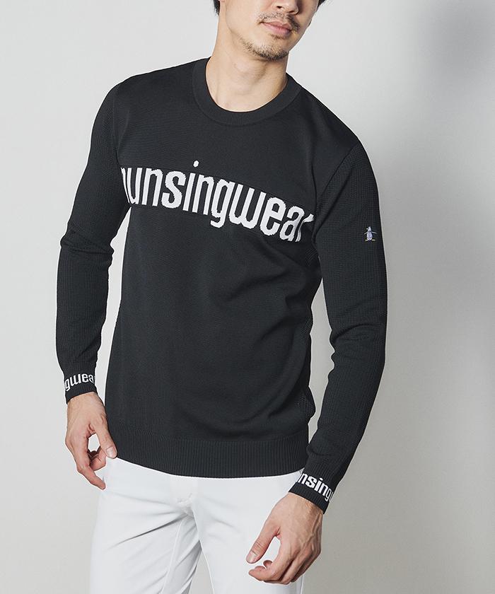 【ENVOY】胸ロゴクルーネックセーター