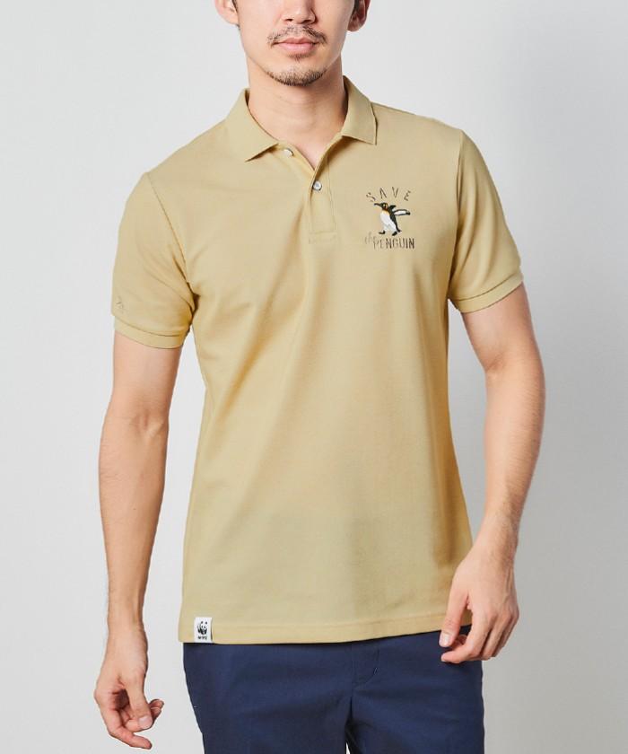 【SAVE THE PENGUIN・WWFコラボ/ECO】オーガニックコットンのこり染め半袖シャツ
