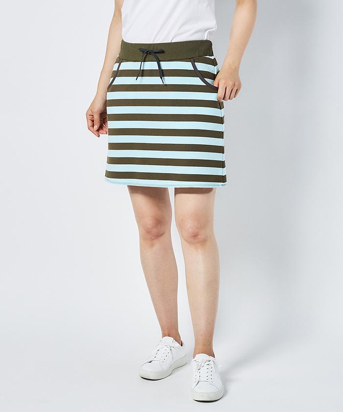 ボーダーポンチスカート(42cm丈)【サンスクリーン】