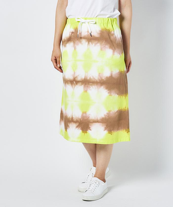 オーガニックコットン絞り染め ギャザースカート(70cm丈)【サンスクリーン】