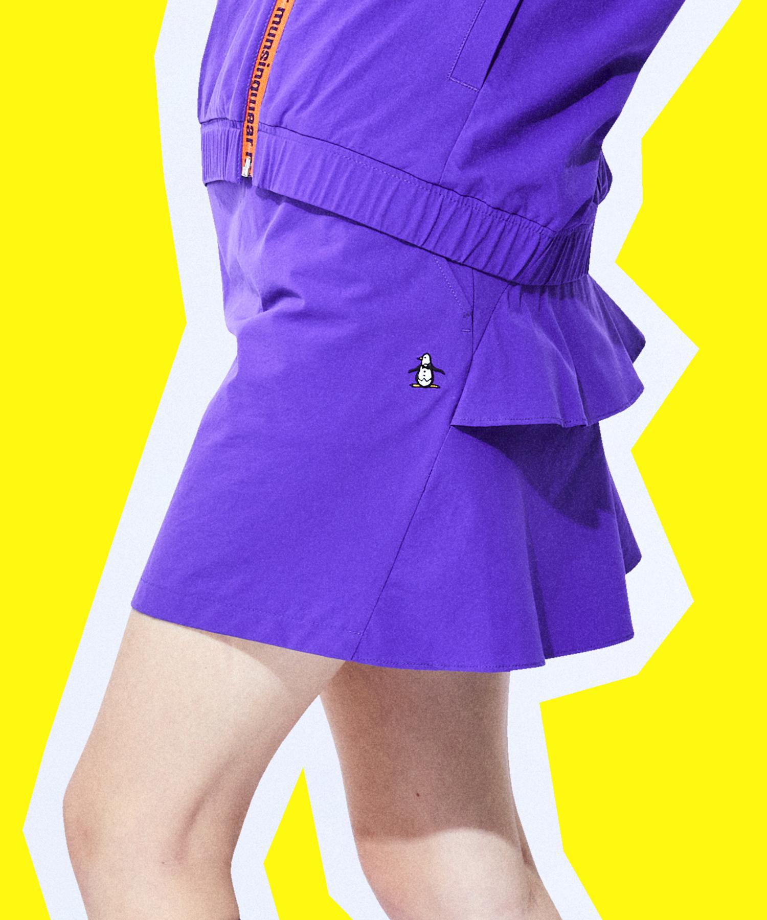 【ENVOY】360°ストレッチワッシャースカート(インパンツ付/38cm丈)