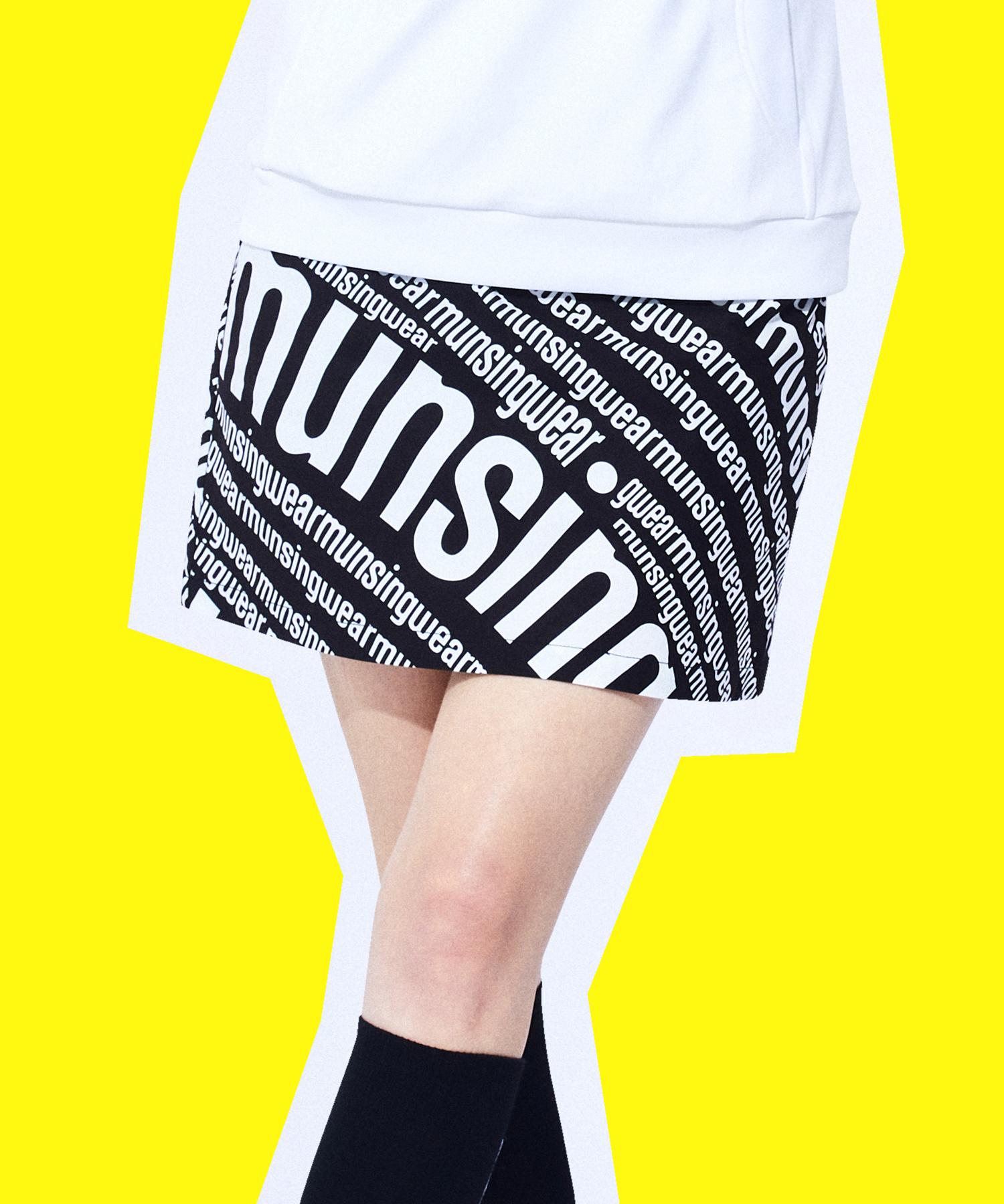 【ENVOY】ストレッチロゴプリントスカート(インパンツ付/38cm丈)