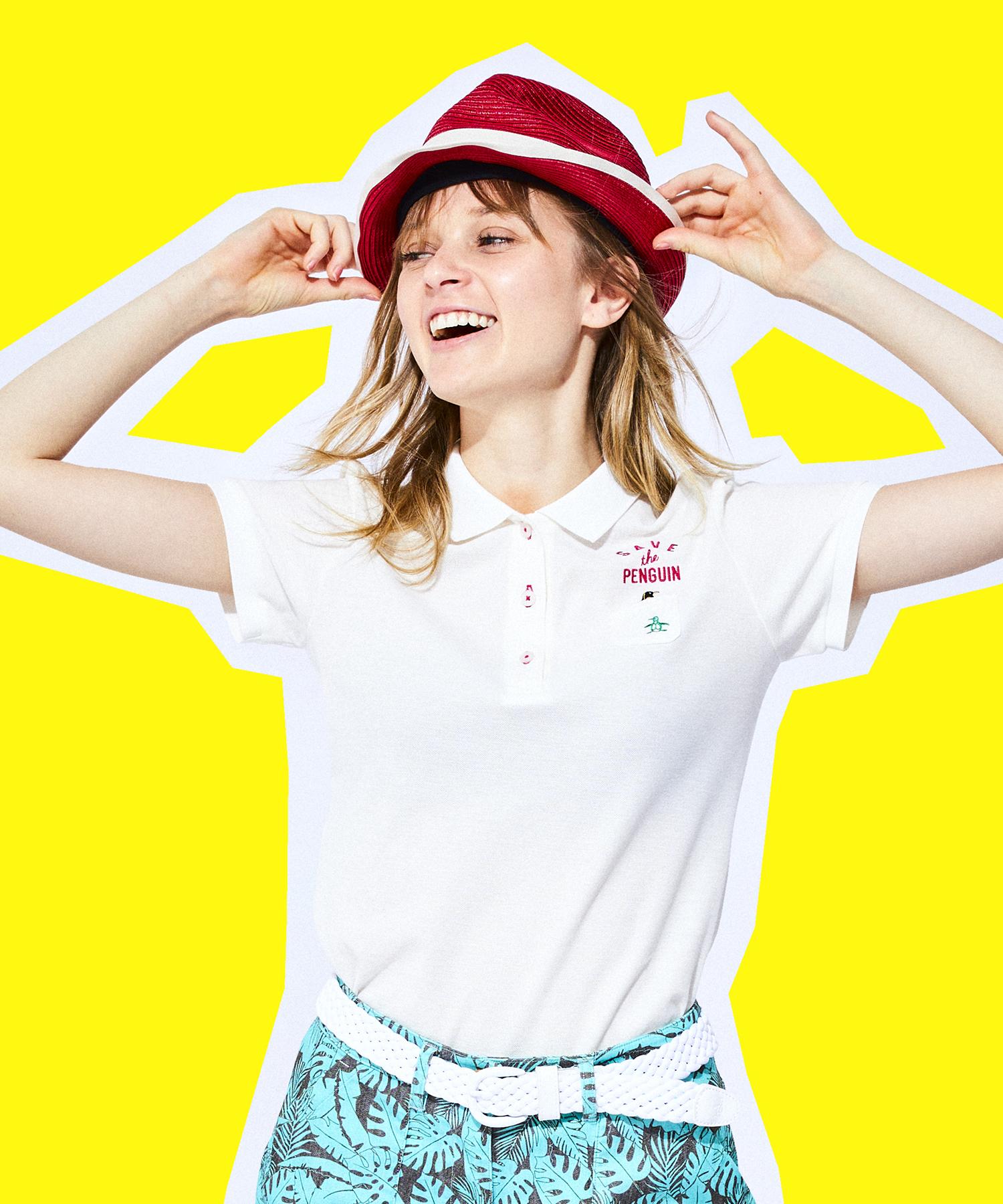 【SAVE THE PENGUIN・WWFコラボ/ECO】オーガニックコットン半袖シャツ