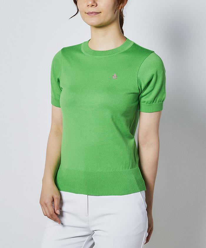 マナードコットン半袖セーター