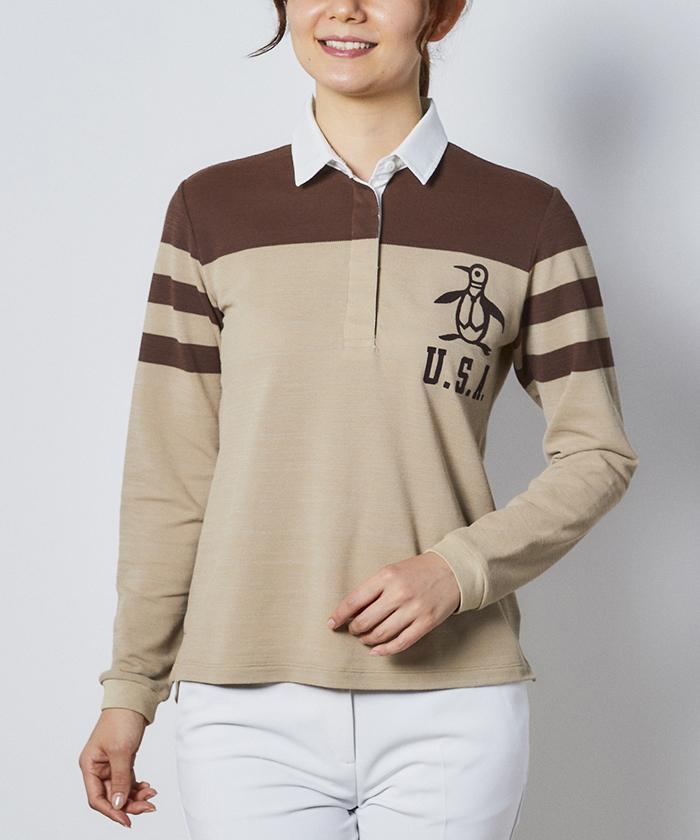スラブヤーンパネルボーダーラガーシャツ