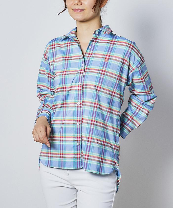 オーガニックコットンマドラスチェックシャツ