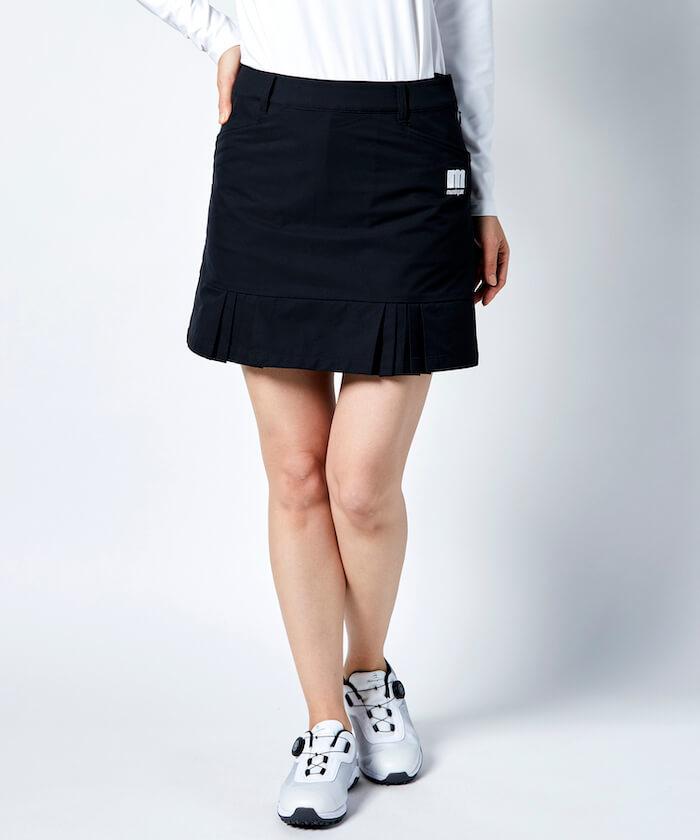 【ENVOY/ECO】ボックスプリーツスカート(40cm丈/インパンツ付き)【はっ水/防風/360°ストレッチ 】