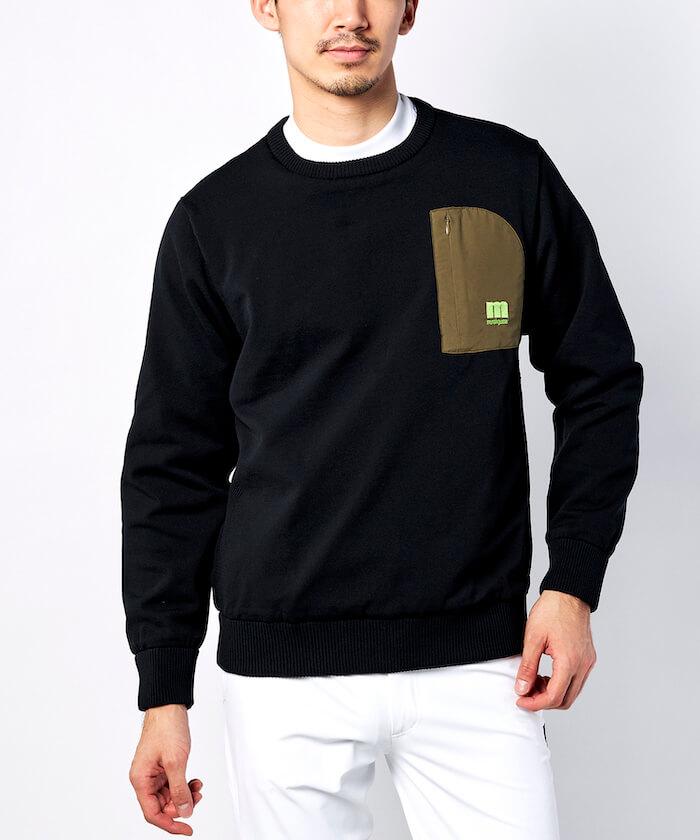 【ENVOY/ECO】リバーシブルミリタリークルーネックセーター【はっ水】