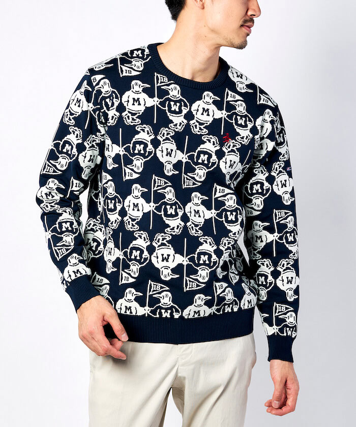 Earth Pete総柄セーター