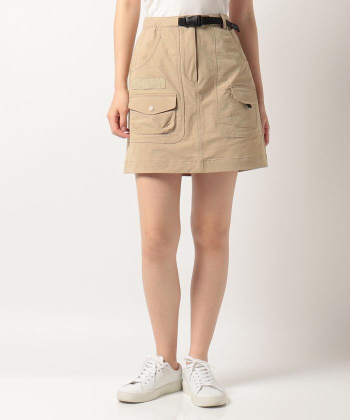 CORDURAナイロンハンズフリー スカート(42cm丈)【はっ水/ストレッチ/防風】