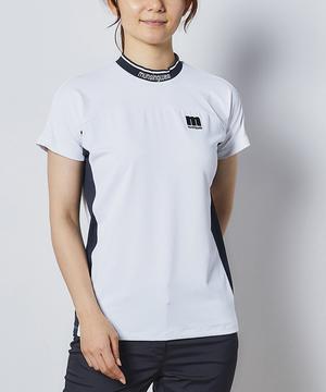 【ENVOY・ファンデクリーン】配色切り替え半袖シャツ【サンスクリーン】
