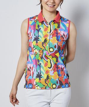 【LEDANIAコラボ】アートプリントノースリーブシャツ【クーリスト D-Tec】