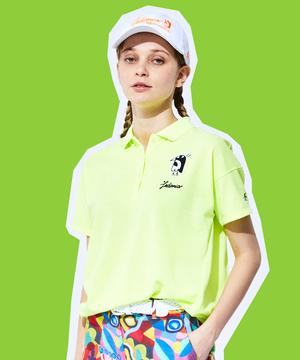 【LEDANIAコラボ】ポジョワッペンオーバーサイズ半袖シャツ